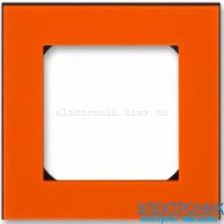 Рамка 1-пост ABB Levit оранжевый/дымчатый
