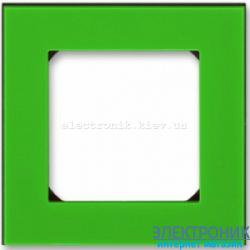 Рамка 1-пост ABB Levit зеленый/дымчатый