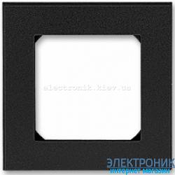 Рамка 1-пост ABB Levit оникс/дымчатый