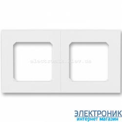 Рамка 2-поста ABB Levit белый/белый