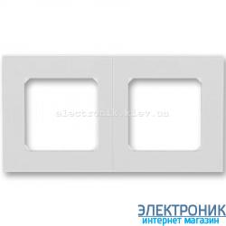 Рамка 2-поста ABB Levit серый/белый