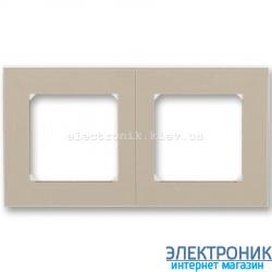 Рамка 2-поста ABB Levit макиато/белый