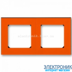 Рамка 2-поста ABB Levit оранжевый/дымчатый