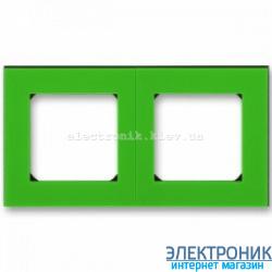 Рамка 2-поста ABB Levit зеленый/дымчатый
