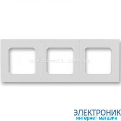 Рамка 3-поста ABB Levit серый/белый