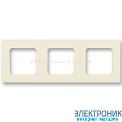 Рамка 3-поста ABB Levit слоновая кость/белый