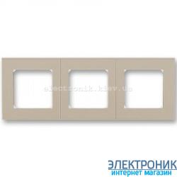 Рамка 3-поста ABB Levit макиато/белый