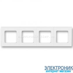 Рамка 4-поста ABB Levit белый/ледяной