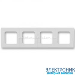 Рамка 4-поста ABB Levit серый/белый