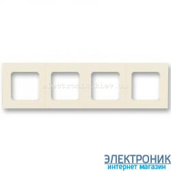 Рамка 4-поста ABB Levit слоновая кость/белый