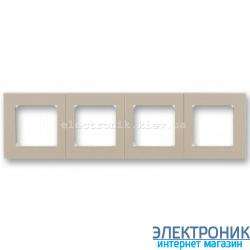 Рамка 4-поста ABB Levit макиато/белый