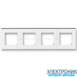 Рамка 4-поста ABB Levit белый/дымчатый