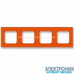 Рамка 4-поста ABB Levit оранжевый/дымчатый
