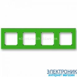 Рамка 4-поста ABB Levit зеленый/дымчатый