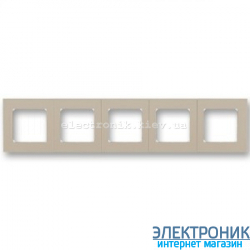 Рамка 5-постов ABB Levit макиато/белый