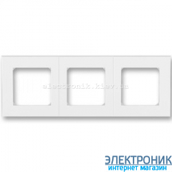 Рамка 3-поста ABB Levit белый/белый