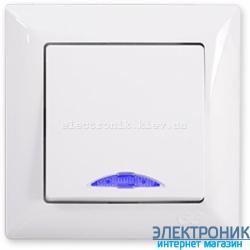 GUNSAN VISAGE белый Выключатель с подсветкой