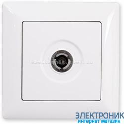 GUNSAN VISAGE белый Розетка TV проходная