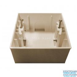 Neoline коробка для внешнего монтажа кремовая
