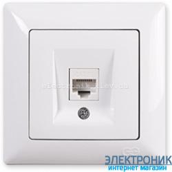 GUNSAN VISAGE белый Розетка компьютерная (cat5)