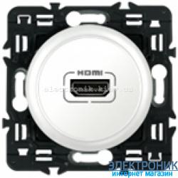 Розетка аудио/видео HDMI Legrand Celiane с лицевой панелью Белый