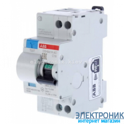 Дифференциальный автомат ABB DS 951 AC-C16/0,03A