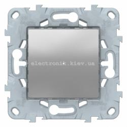 Диммер нажимной (кнопочный) 300Вт универсальный, Алюминий, серия Unica New
