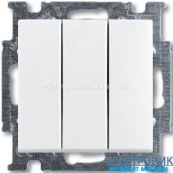 Выключатель 3-клав 16А ABB Basic 55 белый