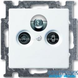 Розетка TV/спутник обычная ABB Basic 55 белый