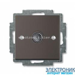 Розетка TV ABB Basic 55 шато черный