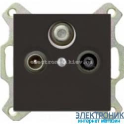 Розетка TV/спутник обычная ABB Basic 55 шато черный