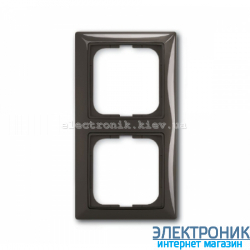 Рамка 2-поста ABB Basic 55 шато черный