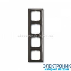 Рамка 4-поста ABB Basic 55 шато черный