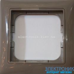 Рамка 1-пост с декоративной накладкой Серый ABB Basic 55