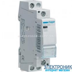 Контактор Hager ESC125 - 230В/25A, 1НО