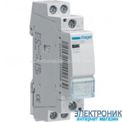 Контактор Hager ESC225 - 230В/25A, 2НО