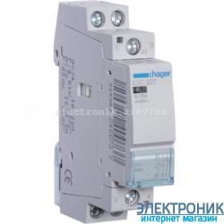 Контактор Hager ESC227 - 230В/25A, 1НО+1НЗ