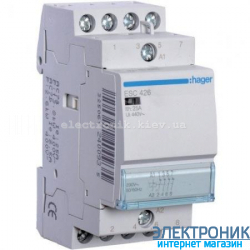 Контактор Hager ESC426 - 230В/25A, 4НЗ