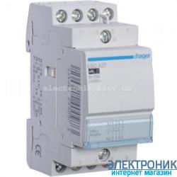 Контактор Hager ESC427 - 230В/25A, 2НО+2НЗ
