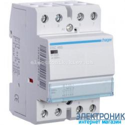 Контактор Hager ESC465 - 230В/63A, 2НО+2НЗ