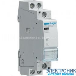 Контактор бесшумный Hager ESC225S - 230В/25A, 2НО