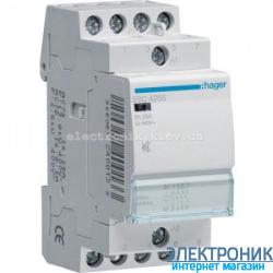 Контактор бесшумный Hager ESC425S - 230В/25A, 4НО