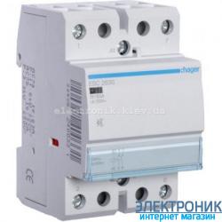 Контактор бесшумный Hager ESC263S - 230В/63A, 2НО
