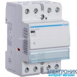Контактор бесшумный Hager ESC440S - 230В/40A, 4НО