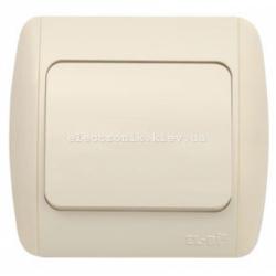 Выключатель 1-клавишный КРЕМ EL-BI Zirve Fixline