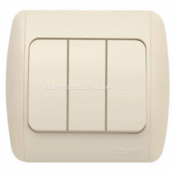 Выключатель 3-клавишный КРЕМ EL-BI Zirve Fixline