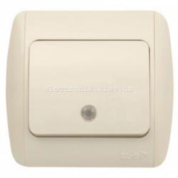 Выключатель 1-клавишный с подсветкой КРЕМ EL-BI Zirve Fixline