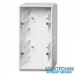 Коробка для открытого монтажа 2-пост ABB Basic 55 белый