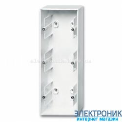 Коробка для открытого монтажа 3-пост ABB Basic 55 белый