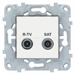 Розетка телевизионная оконечная ТV-SAT, Белый, серия Unica New